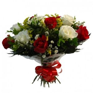 Buquê de 13 rosas coloridas