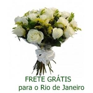 Buquê de 13 Rosas Brancas