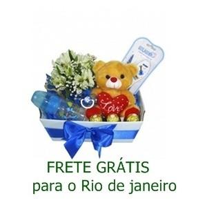 Kit Bebe e Urso com 3 Ferrero Rocher