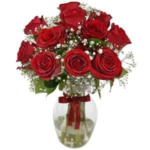 Buquê de 13 Rosas Vermelhas no Jarro de Vidro