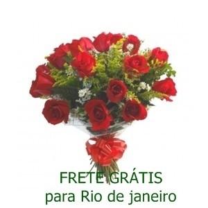 Buquê de 13 Rosas Vermelhas