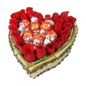 Coração de rosas e Trufas da Lindor