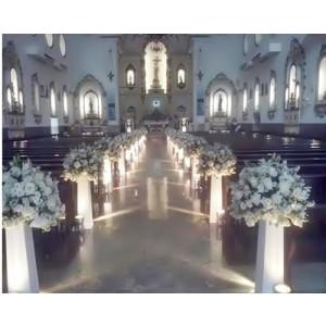 Decoração da igreja para casamento