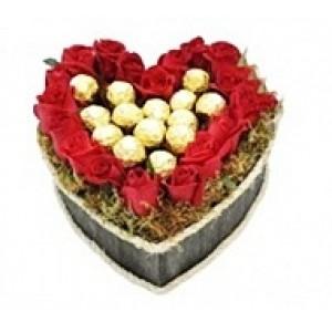 Coração de Rosa e Ferreiro Rocher